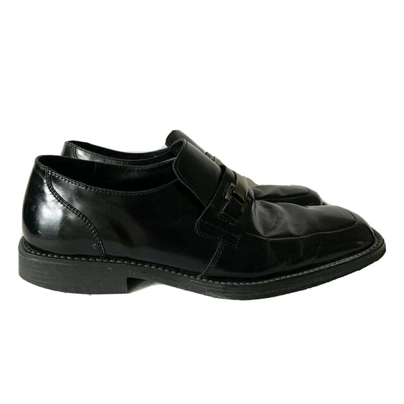 Kenneth Cole Reaction Black Leather Bit Loafers